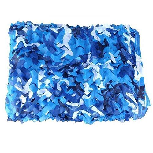 Filet de camouflage parasol multi-usage Filet de camouflage bleu Filet de camouflage armée Net Couverture de camping pour tente de camping Filets en tissu Filet de camouflage (Taille: 3 & 3; 3m) Bâche