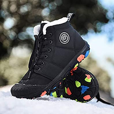 Pyjacos Bottes de Neige pour Enfants Chaussures Coton Hiver Chaussures