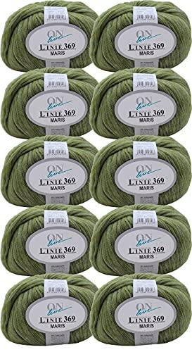 Online Linie 369 Maris - Ovillo de lana merino (500 g, 10 ovillos de 50 g), color 07, grosor de...
