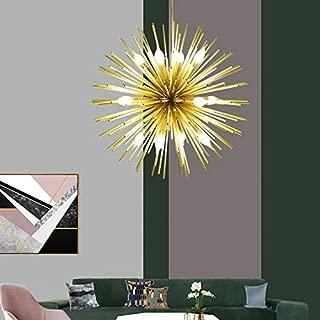 Golden Sputnik Chandelier Ceiling Light Lamp Pendant Lighting Fixture E14 Light (Dia 29.5-Inch)