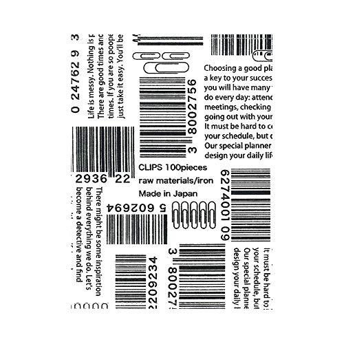 トコナッツ ブックカバー 文庫 ゼムクリップとバーコード TC-166-C
