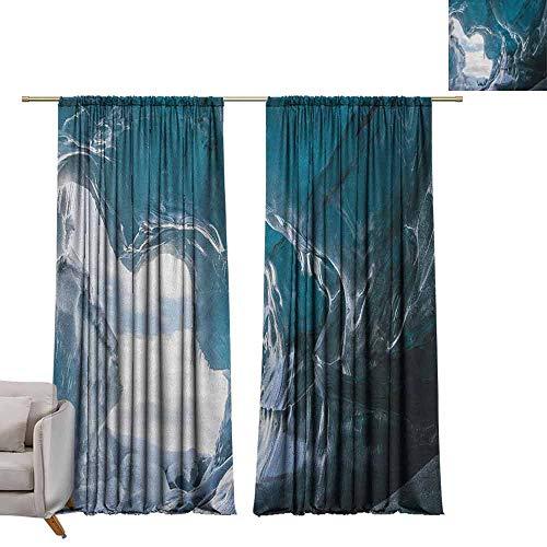 badkamer gordijnen gordijnen gordijnen Thermische geïsoleerde panelen huisdecoratie Grot, Oude Geologische Vorming in Digitale Schilderij Stijl Ondergrondse Tunnel met een Poort Bleke Bruin
