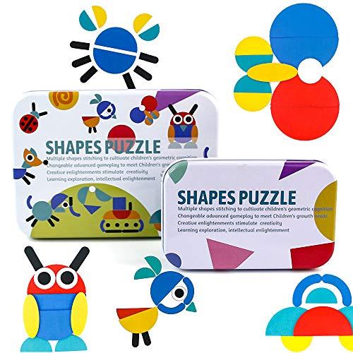 PL Puzzles Infantiles Montessori Tangram Madera 3