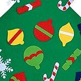 COOFIT Filz Weihnachtsbaum,Weihnachten Deko 3.2ft DIY Filz Weihnachtsbaum Set mit 28 Pcs Deko Weihnachten Weihnachtsspiel Kinder Spielzeug - 2
