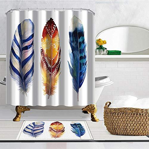 XCBN Badvorhang kreative Individuellkeit wasserdicht Duschvorhang Schmetterling Mädchen Muster Bad Duschvorhang A3 180x180cm
