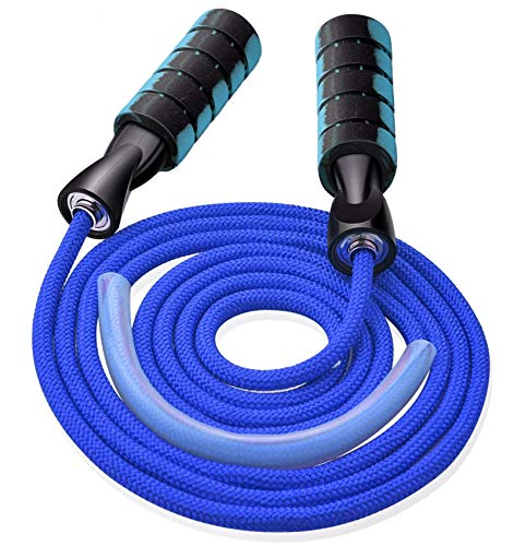 Jump Rope, Professional Weighted Cotton Jump Rope Workout, Adjustable Tangle-Free with Ball Bearings Exerciser Jump Ropes for Cardio, Endurance Training, Fitness Workouts, Jumping Exercise