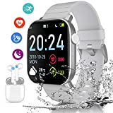 Smartwatch Orologio E auricolare bluetooth, 1.4 Pollici Display Fitness Tracker Uomo Donna...