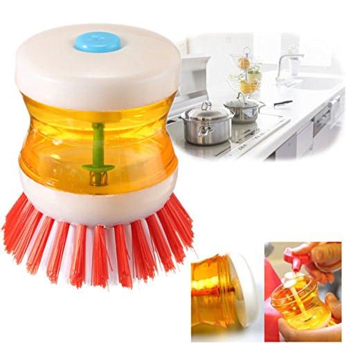 YCANK - Dispensador de jabón líquido con cepillo para lavar platos y cocina