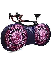 WESTGIRL Fietswiel, anti-stof binnenfiets, opbergtas, wasbare elastische fiets-krasbestendige beschermende uitrusting voor MTB-racefietsen, houdt vloeren en muren vuilvrij