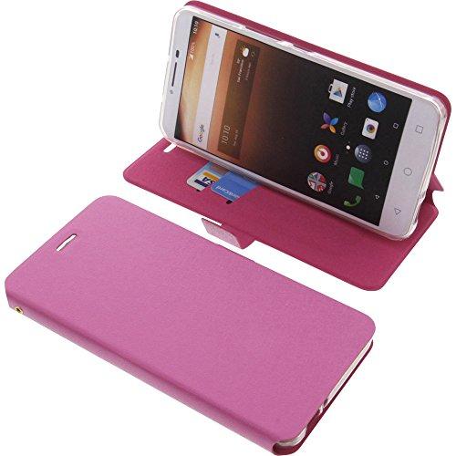 foto-kontor Tasche für Alcatel A3 XL Book Style pink Schutz Hülle Buch
