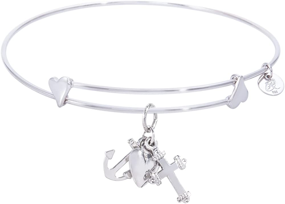 Excellent Rembrandt Faith Hope Charity 5 ☆ popular Charm Expandable Wire 'Sweet' Ban