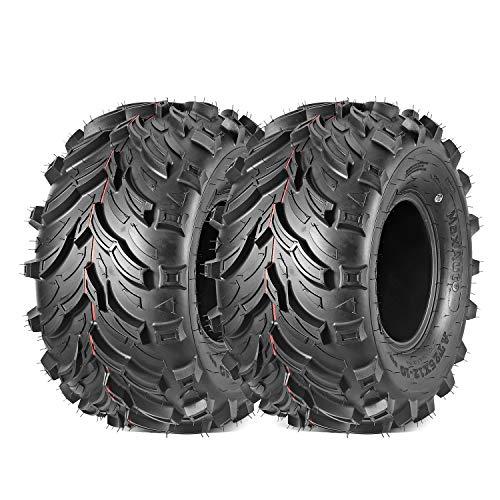 Maxauto Set of 2 AT 25x12-10 25x12x10 Rear ATV UTV All Terrain Tires Mud Sand Tires 6PR Tubeless