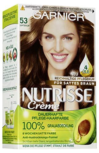 Garnier Nutrisse Creme Pflegende Intensiv-Coloration, 053 Samtbraun, 1er Pack