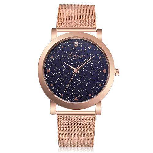 SWJM Damen Armbanduhr Kreative Quarzuhr Günstige Luxusuhr Frauen Kleiden Uhren Rose Gold Edelstahl Lvpai Markenmode 233
