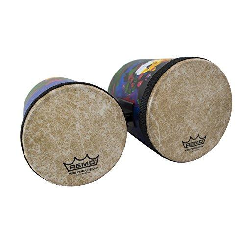 Remo KD-5400-01 Kids Percussion Bongo Drum - Fabric Rain Forest, 5
