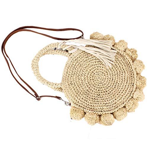 Tyjie Handbag Fashion Women Girls Flower Summer Beach Straw Totes Holiday Shoulder Bag Supplies