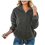 Berimaterry sudaderas con capucha para mujer invierno casual moda de liso blusa elegante otoño Jerséis camisetas manga larga baratos sudaderas de felpa hoodies baratos chándal peludo chaqueta