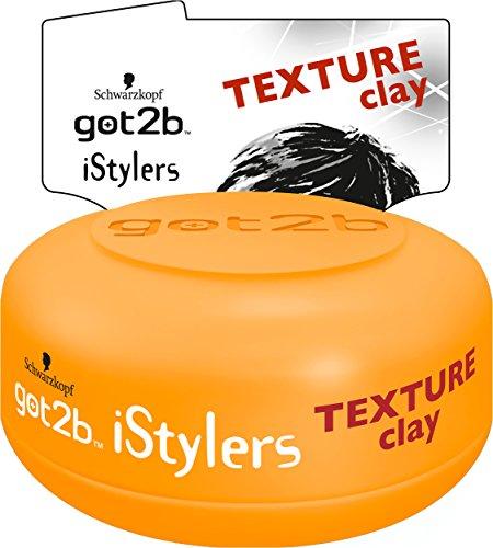 Schwarzkopf Got2b iStylers Texture Clay, 3er Pack (3 x 75 ml)