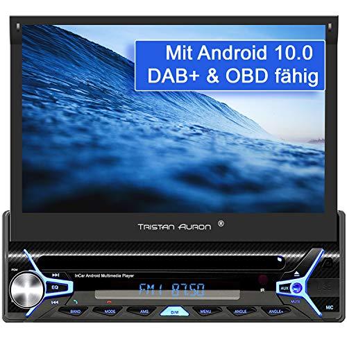 Tristan Auron BT1D7022A Android 10.0 Autoradio I 32GB ROM I 7\'\' Touchscreen I GPS Navi I Bluetooth Freisprecheinrichtung I USB SD OBD 2 DAB Plus I 1 DIN