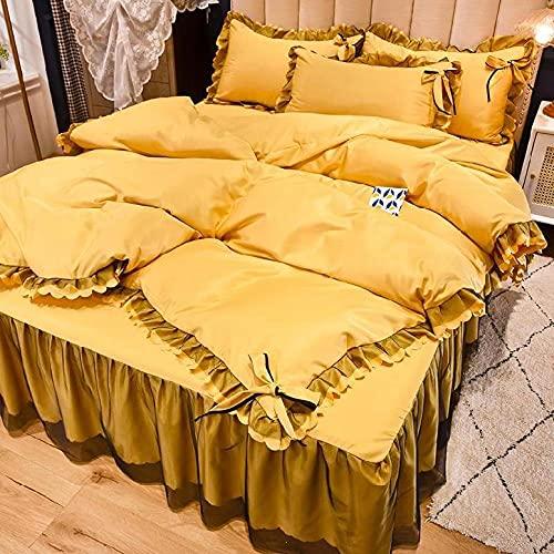 Funda Nordica Cama 90 Juveniles,Ropa de cama de seda, seda seda de verano Seda de seda seda sábanas europeas, apto para familias Habitación de hotel Habitación Dormitorio Dormitorio para niños Regalo