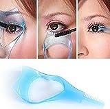 3PCS Random Color Plastic Makeup Upper Lower Eye Lash Mascara Applicator Guard With Comb Eyelashes Curlers Applicators For Women Girls