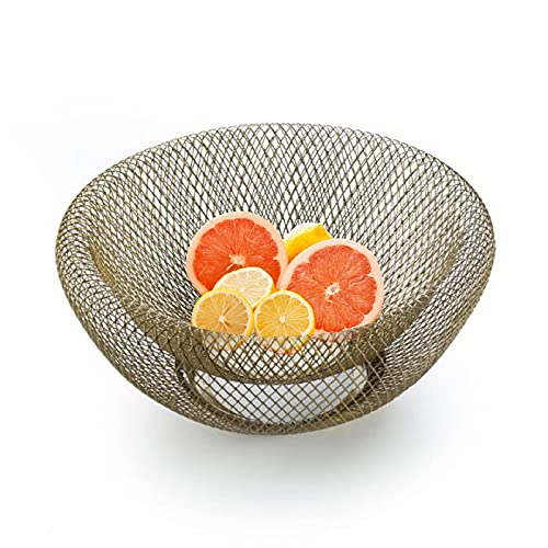 HYDL Fruit Stand for Kitchen, Metal Fruit Bowl, Wire Fruit Basket, Vegetable Snack Bread Storage for Kitchen, Home, Centerpieces and Countertops Style2