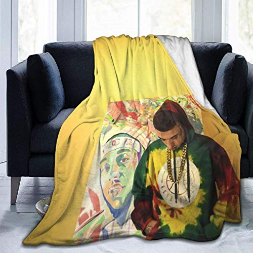 huatongxin Kaydy Cain Money from Nothin' Ultra-Soft Micro Fleece Warm Throw Manta Travel Manta All Season Premium Bed Manta 80
