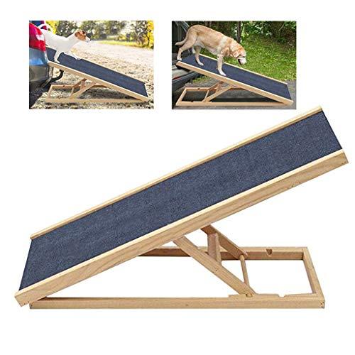 LJKD Perro Mascota Rampa Ajustable En Altura Rampa De Seguridad Antideslizante para El Perro De Madera Escalera De Gato Viajes Portátil Superficie Antideslizante Rampa para Perros,70 * 35cm