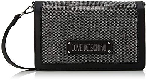 Love MoschinoJc4051pp1aMujerShoppers y bolsos de hombroPlateado (Argento Negro)9x16x27 centimeters (W x H x L) (Zapatos)