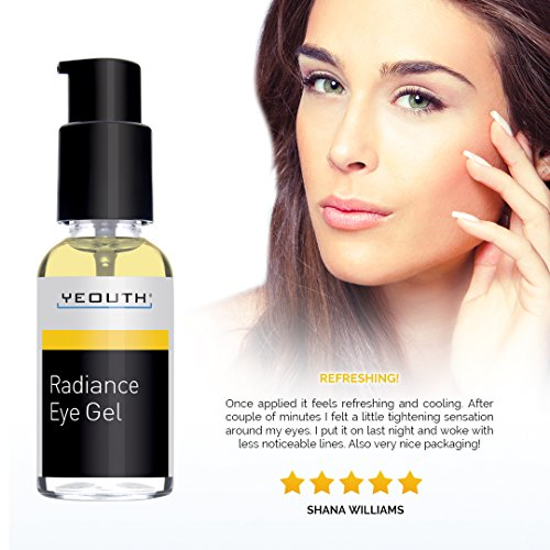 YEOUTH Eye Gel Cream for Anti Aging, Wrinkle Cream, Dark Circles, Puffy Eyes, Eye Bags, Crows Feet, with Hyaluronic Acid Serum and Tripeptide