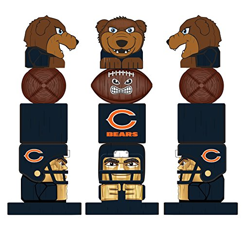 Team Sports America NFL Tiki Totems (16 Inches, Chicago Bears)