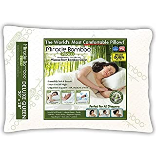 Ontel Miracle Shredded Memory Foam Pillow with Viscose from Bamboo Cover, Queen, White (B018351GXS) | Amazon price tracker / tracking, Amazon price history charts, Amazon price watches, Amazon price drop alerts