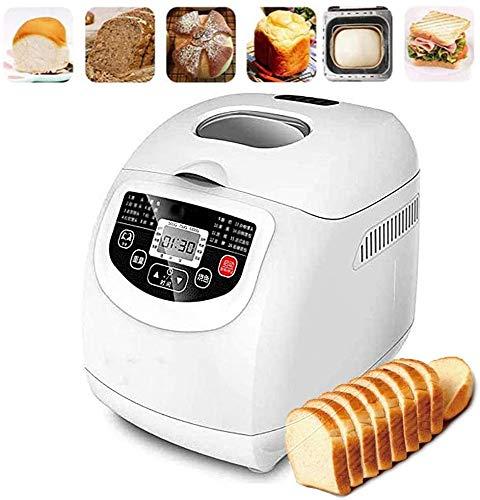 Sooiy Máquina de Hacer Pan automática, rápida y Acero Inoxidable Multifuncional máquina de Pan con 19 programas, 3 Colores Corteza, 15 Horas Temporizador, 1 Hora de Mantener Caliente, 550W