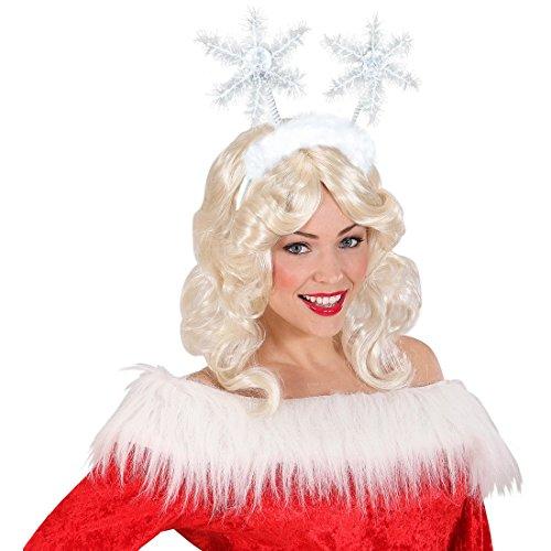 NET TOYS Serre-Tête Flocon de Neige Elfe Noël Blanc Bandeau Bijoux Cheveux Costume Déguisement Accessoire