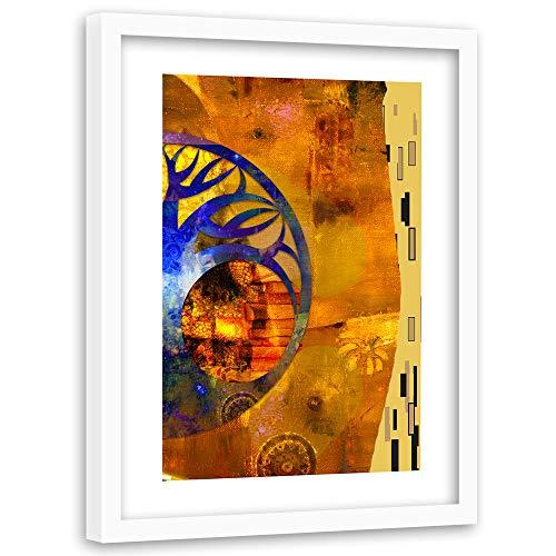 Wanddeko weißer Rahmen Baum Klimt Wanddeko Jugendstil Gold 60x90 cm