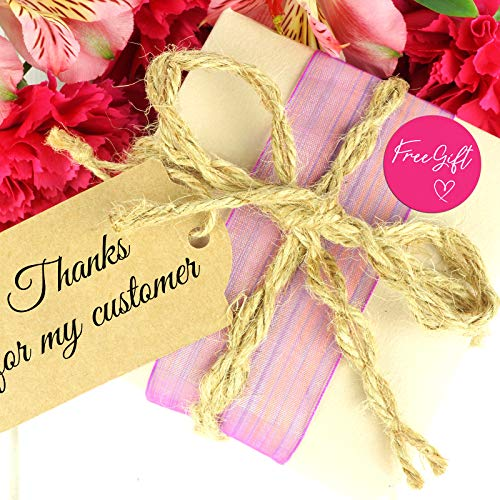 1000 Pieces Customer Appreciation Stickers Small Business Sticker Roll Round Self-Adhesive Stickers Labels for Packing Mailing Envelopes Postcards, 1.5 Inch (Pink Background) Photo #3