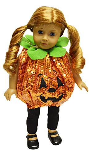 Brittany's My Sequin Pumpkin Halloween Costume Compatible with American Girl Dolls