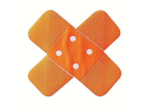 applicaties – Kids and Hits – opstrijkbare pleister ca. 6,5 x 6,5 cm neonoranje