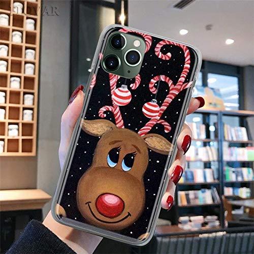 Estuche para teléfono delgado navideño para iPhone 11 12 Pro MAX 7 8 11 X XR XS MAX 6 6s 7 8 Plus 5S SE Estuche rígido para PC