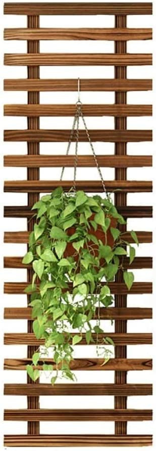 Flower Stands Grid Wooden Pot Max 47% OFF Balcony Rack Large-scale sale Wall Liv Shelf