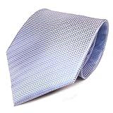 TigerTie - Corbata - azul claro azul plata rayas