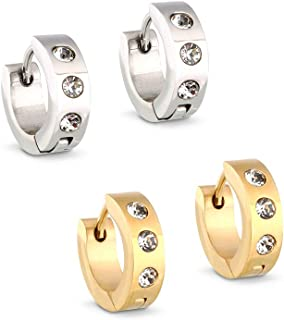 Sister jewelry Small Hoop Earrings Stainless Steel...