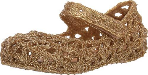 Melissa Girls Mini Campa Mary Jane Shoe, Gold Glitter, Size 10 M US Toddler