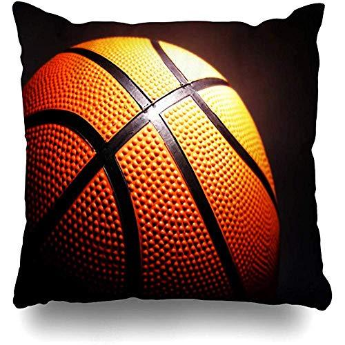 JONINOT Doble Cojines Fundas 18' Baloncesto Funda de Almohada Suave para la Piel