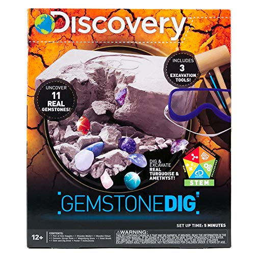 Discovery Kids Gemstone Dig by Horizon Group Usa, Dig & Reveal 11 Real Gemstones