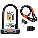Burg-Wächter Gold Sold Secure Bicycle D Lock & 1.2M Security cable,One Size