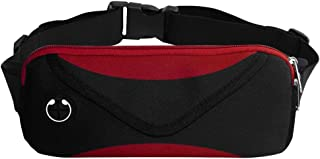 GALOOK Fanny Pack for Men Women, Waist Bag with Headphone Hole, Double Layer, Adjustable Sweatproof, Fit Phones up to 6 inches, Great for Gym Hiking Jogging Cycling & Outdoor Activities