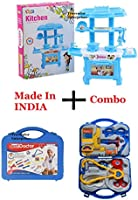 TRUVENDOR ENTERPRISES Kitchen Set Toy for Kids Playing (32 Pieces, Kitchen Set for 3+ Kids High Quality) (Multocolour)