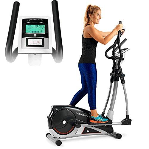 BH Fitness Bicicletta ellittica LightFit 1030 G2336RF Attrezzo con programmi Sistema Inerziale 10Kg Falcata 30cm