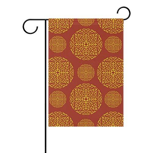 FANTAZIO Tuinvlaggen Rood Goud Behang Voor Muren Goudkleurige Vlag 28x40(in) 1